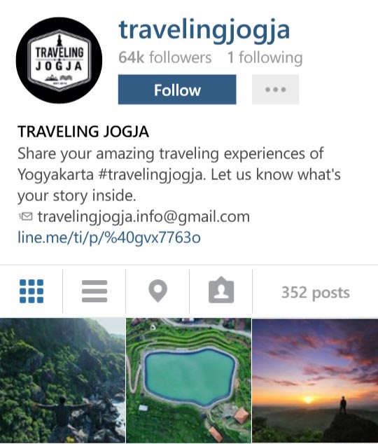 Instagram Travellingjogja