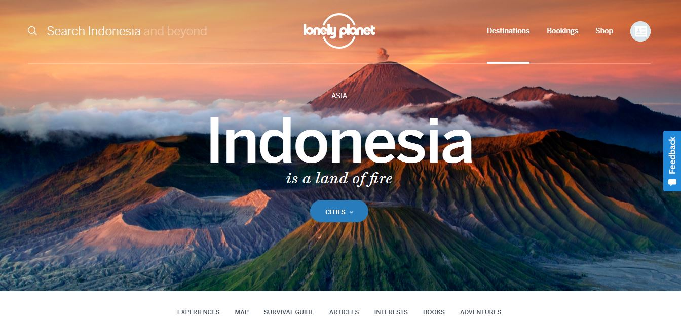 Website Lonely Pelanet