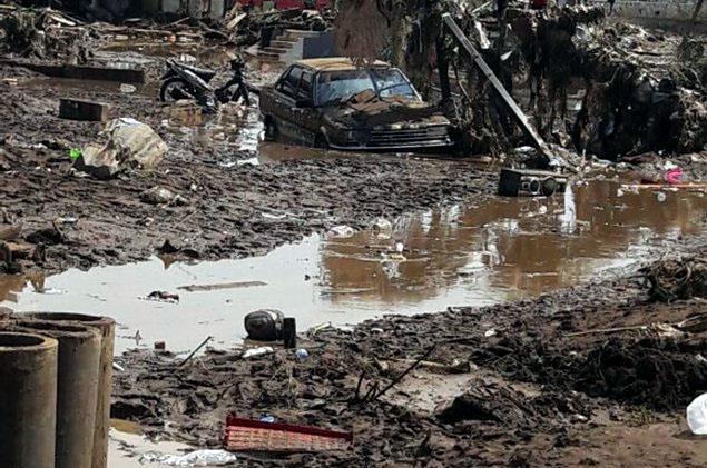 kondisi banjir bandang garut